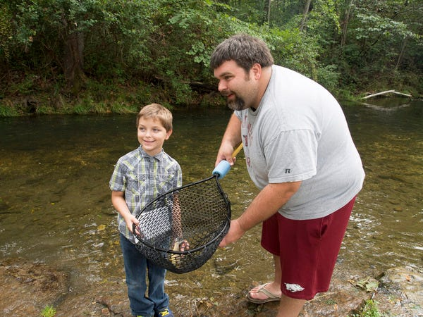Experienced fishing volunteers will help young people fish Dry Run Creek and the hatchery's raceways on Sept. 7 as part of the Friends of the Norfork National Fish Hatchery's annual Hatchery Outdoor Adventure.