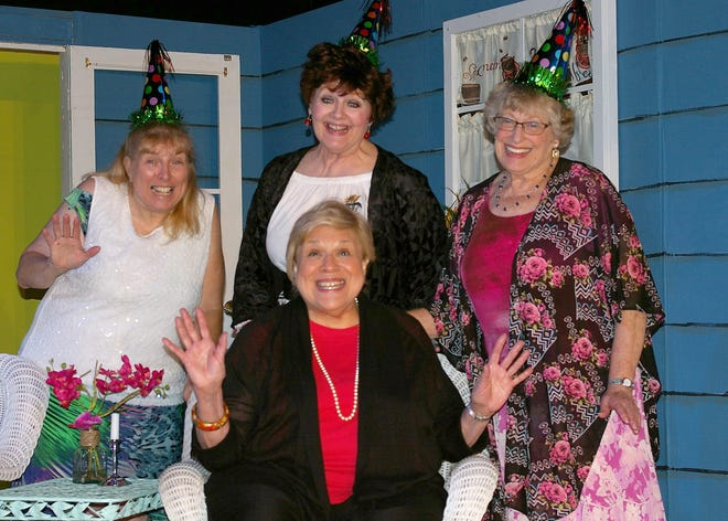 """The Twin Lakes Playhouse opens its 2018-19 season with """"The Savannah Sipping Society"""", a rollicking comedy. Starring in the production are: (front row) Debby Stanuch, (second row, from left) Patty Kotlicky, Deb Smith and Sue Howe."""
