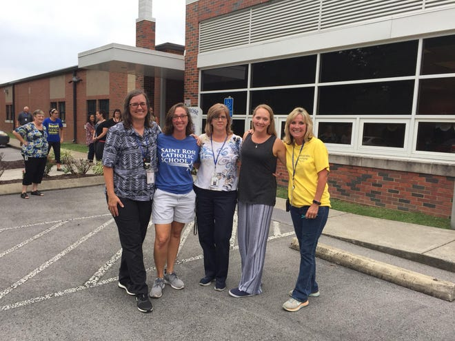 Five teachers from St. Rose of Lima Catholic School are credited with saving an elderly man's life. During afternoon school pick-up, a student notified a teacher that his grandfather was unresponsive in the car. The teachers performed CPR until an ambulance arrived.