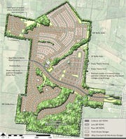 This rendering shows the new plan for the proposed Forest Park development in Hendersonville.
