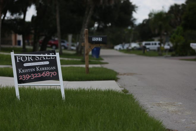 A new house sits empty and awaiting an owner on the corner of Saunders Avenue and Imperial Parkway earlier this month. The home sat high enough to avoid Hurricane Irma's floodwaters that plagued the area one year ago.