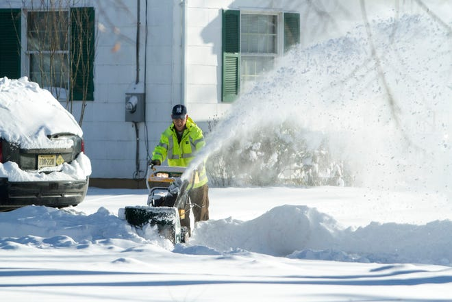 A Waldwick resident digs out of the first winter storm of the 2016 season.