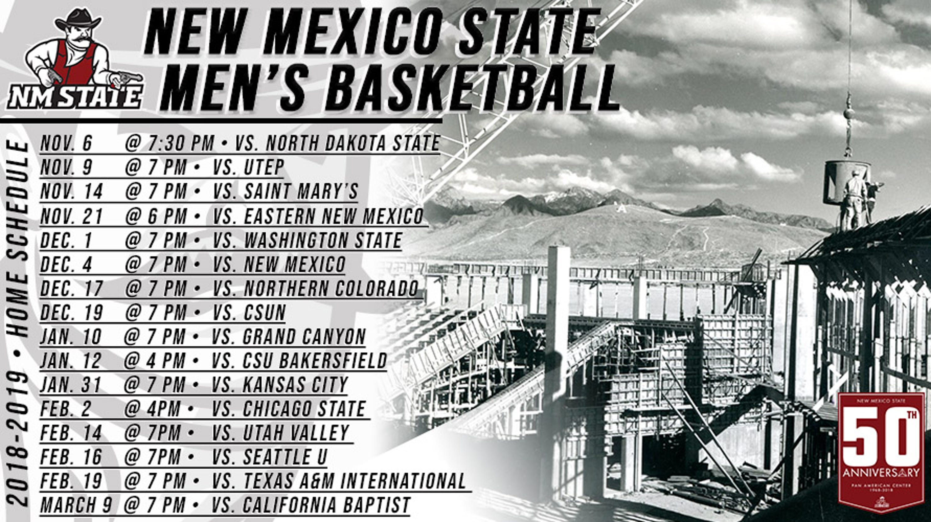 New Mexico State men's basketball releases 2018-19 schedule