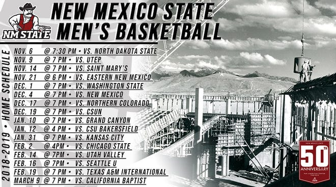 New Mexico State 2018-19 men's basketball schedule.