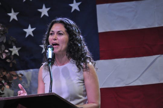 Candidate for U.S. Congressional District II Xotchil Torres Small on Sep. 6 at the Energy Summit in Carlsbad, New Mexico.