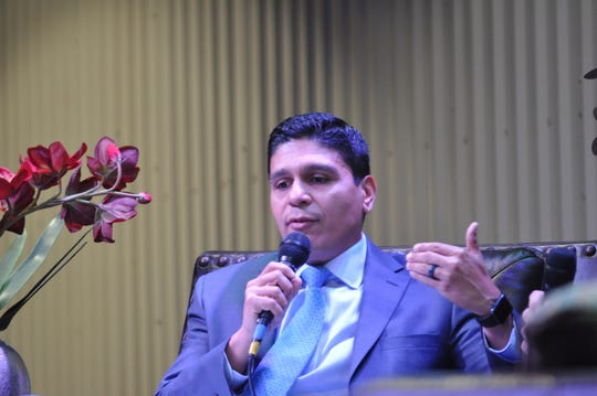 Oscar Quintero with Occidental Petroleum during a Q&A at the Mayor's Energy Summit Sep. 6 in Carlsbad, New Mexico.
