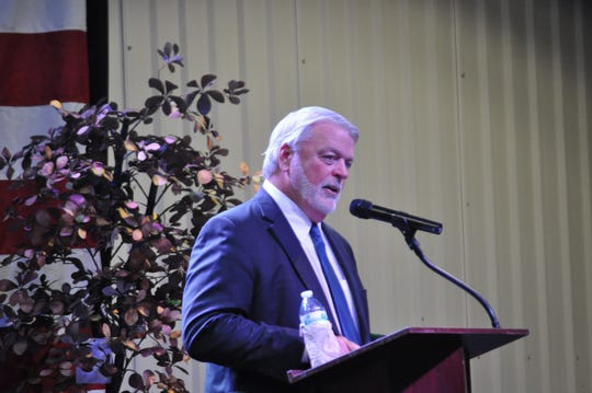 Pat Bond with Gravity Oilfield Services at the Carlsbad Mayor's Energy Summit Sep. 6 in Carlsbad, New Mexico.