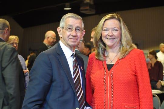 Carlsbad Mayor Dale Janway and Sara Ortwein, XTO Energy Sep. 6.