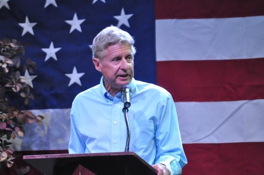 Former governor and candidate for U.S. Senate Gary Johnson on Sep. 6 at the Mayor's Energy Summit in Carlsbad, New Mexico.