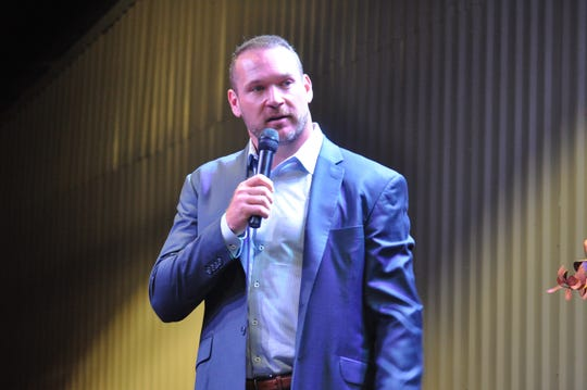 Former NFL linebacker Brian Urlacher during a Sep. 6 appearance at the Mayor's Energy Summit in Carlsbad, New Mexico.