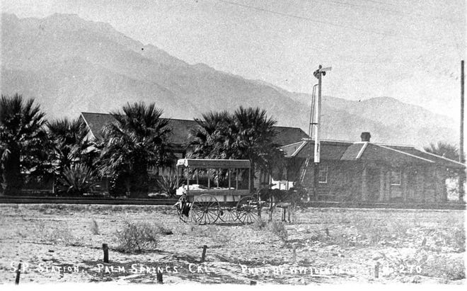 Southern Pacific Railroad's Seven Palms station c. 1911