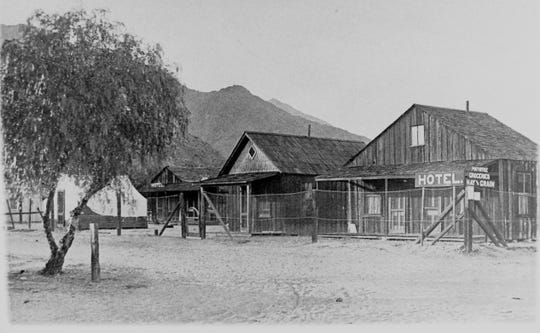 Blanchard's Hotel, Post Office, Store, tent for TB (tuberculosis) patients, c. 1889