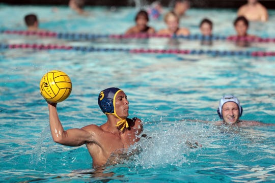 La Quinta's Brayden Smith breaks the tie in the 4th quarter with a penalty shot to win the game against Yucaipa on Wednesday, September 4, 2018 in La Quinta.