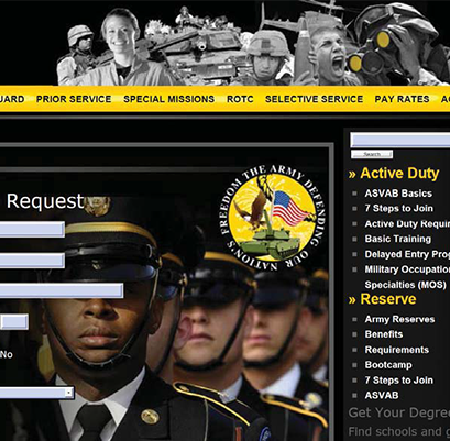 Fake military recruiting websites duped millions of students, potential recruits