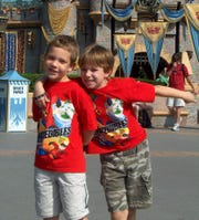 Jacob and Sawyer, pictured here at age 7 in Disneyland, have been best buddies since kindergarten.