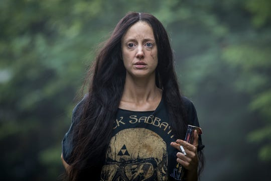 "Andrea Riseborough plays the title character in ""Mandy."""