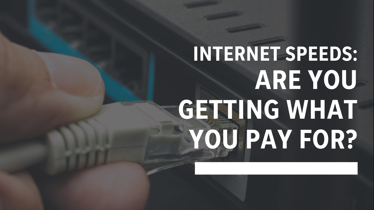 Are you getting the Internet you're paying for? Here's how to check