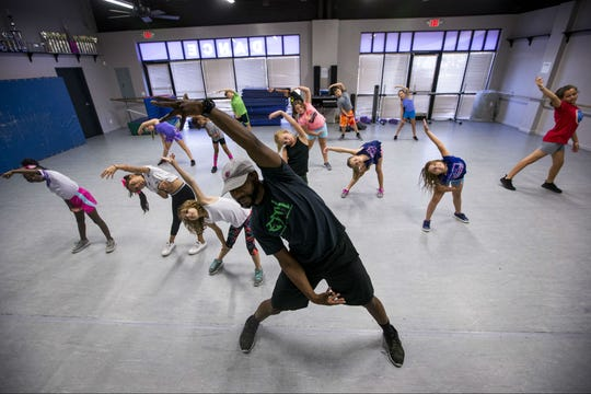Amani Ricks leads a hip-hop class on Sept. 5, 2018, at Desert West Dance in Goodyear.