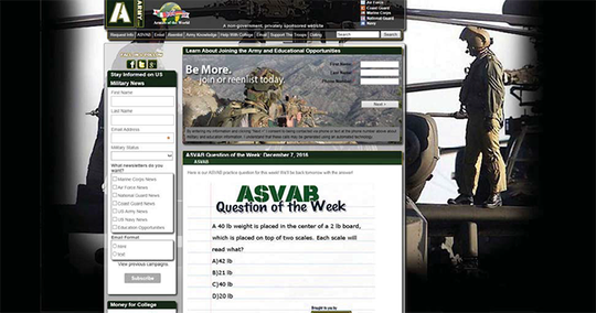 The Federal Trade Commission says websites like army.com. armyenlist.com  and navyenlist.com are fakes used by two companies to harvest people's contact information to sell to telemarketers. The companies were fined more than $12 million for the deception.
