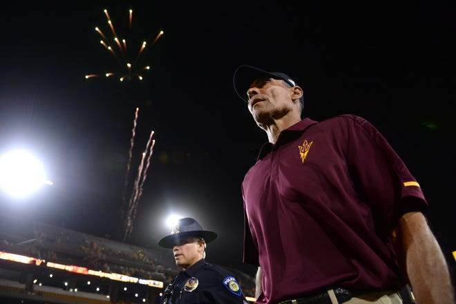 Will Arizona State head coach Herm Edwards get the first upset of his tenure at ASU on Saturday? Check out the predictions for the Sun Devils' game against Michigan State.