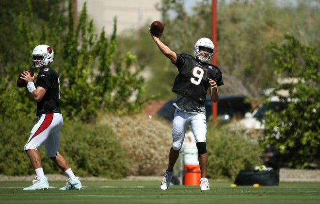 Arizona Cardinals quarterback Sam Bradford (9) during practice on Sep. 5, 2018 at the Arizona Cardinals Training Facility in Tempe, Ariz.
