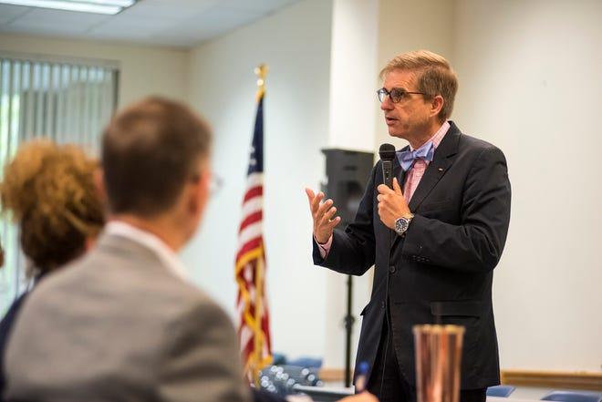USDA Rural Development Director Jason Allen speaks Thursday, Sept. 6, 2018 at St. Clair County Parks and Recreation.
