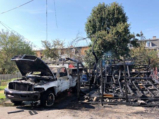 640 W Company St Garage Fire