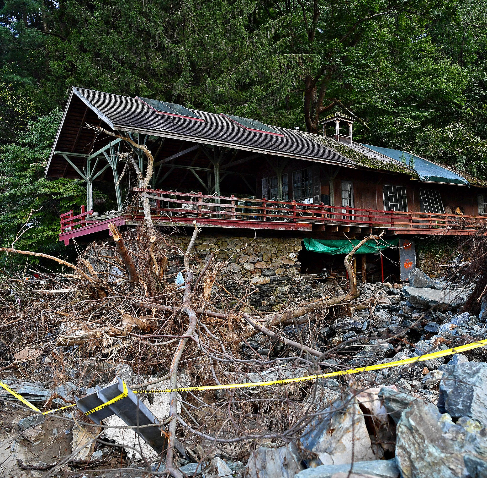 The property of Amy and Paul Nevin is shown on Accomac Road in Hellam Township, Wednesday, Sept. 5, 2018. Flash flooding on Friday caused significant damage to the area. Dawn J. Sagert photo