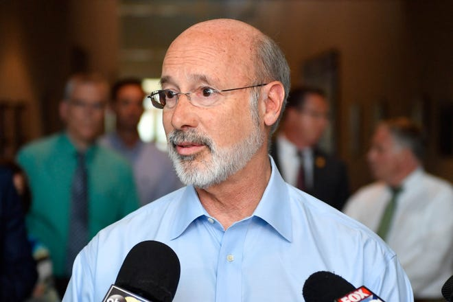 Pennsylvania Gov. Tom Wolf came to York County on Wednesday, September 5, 2018, to see the damage that was caused by the recent flooding.