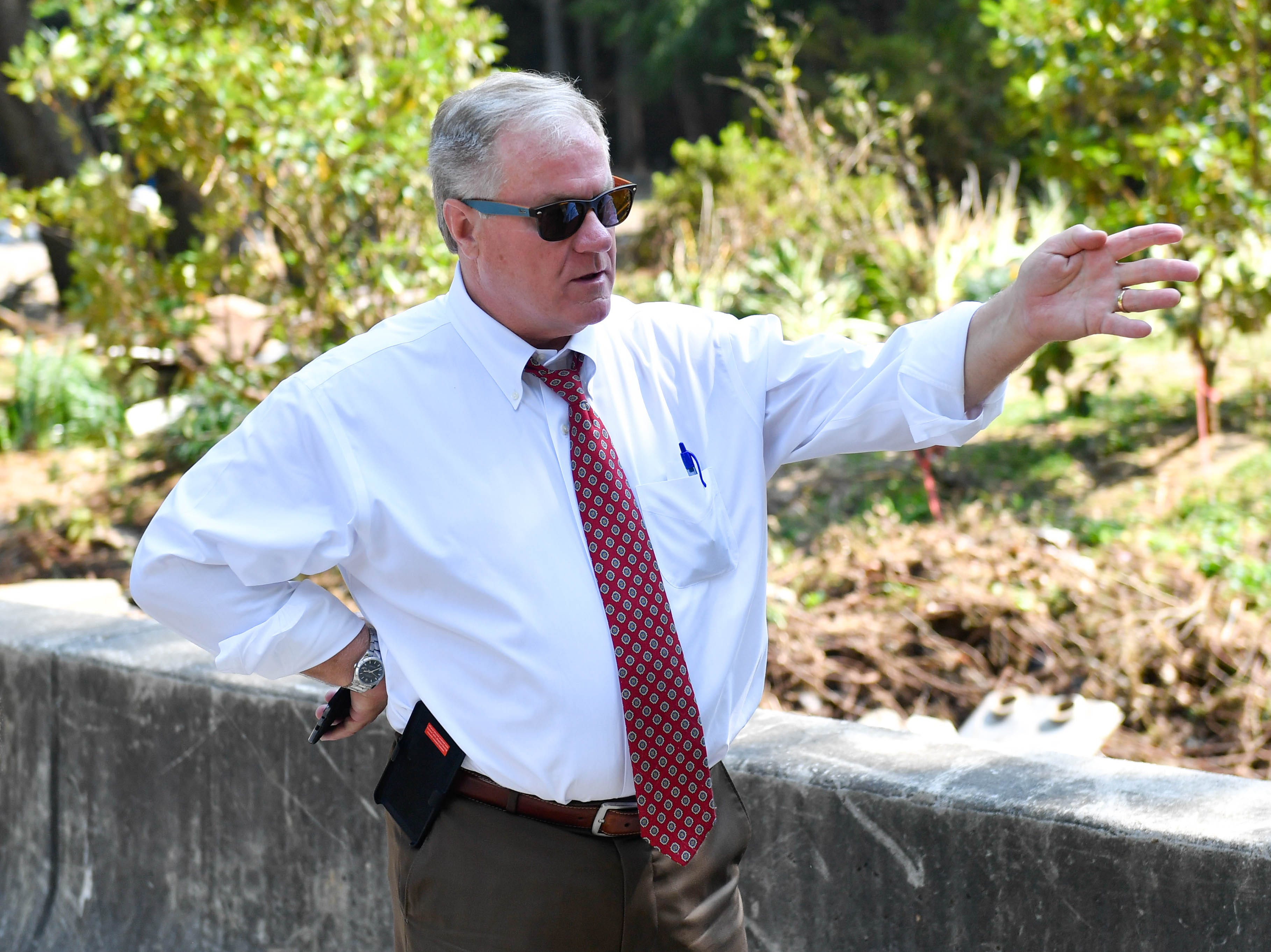 Former state Sen. Scott Wagner, Republican candidate for governor, came to York County on Sept. 6 to see the damage that was caused by the recent flash flooding.
