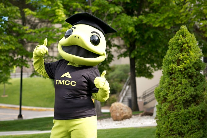 Wizard the Lizard, the mascot of Truckee Meadows Community College.