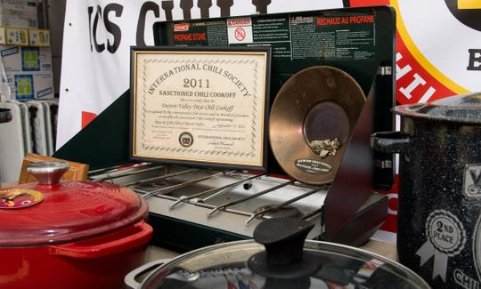 Bob Hastings and his son Daniel have won numerous awards at various chili cook-off competitions.