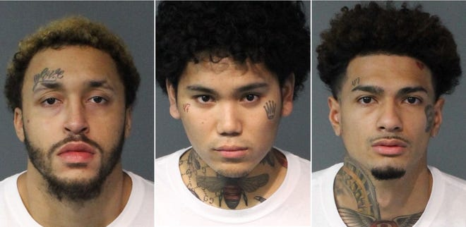 From left to right: Quentin Moore, 22, Tyler Hernandez, 21, and Jamil Geronimo, 21.