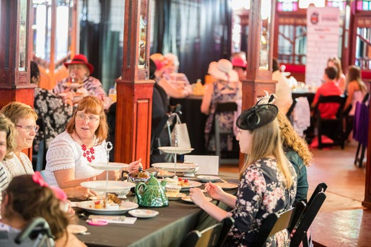 The 2017 Fringe Afternoon Tea in the Spiegeltent. This year's tea is September 16. The event sold out last year.