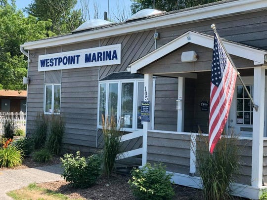 The renovated Westpoint Marina offices and clubhouse.