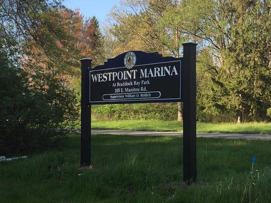 Westpoint Marina sign