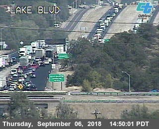 Lake Boulevard/Highway 299 is packed Thursday afternoon, Sept. 6, 2018 as motorists look for alternative routes, given the closure of Interstate 5 north of Redding because of the Delta Fire.