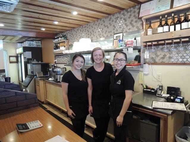 Some of the servers at Champa Garden off Hilltop Drive in east Redding.