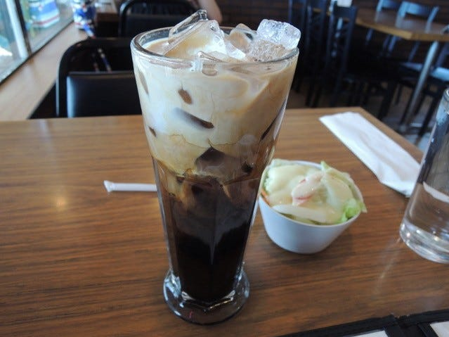 Thai iced coffee at Champa Garden in east Redding.