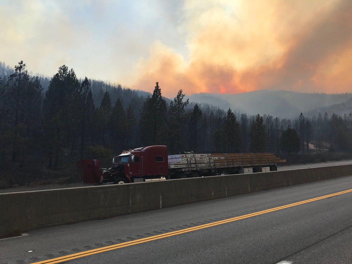 The Delta Fire broke out Wednesday afternoon. It has burned over the hill west of Interstate 5 north of Redding.
