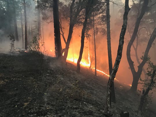 The Delta Fire by Wednesday evening was burning more than 2,000 acres north of Redding.