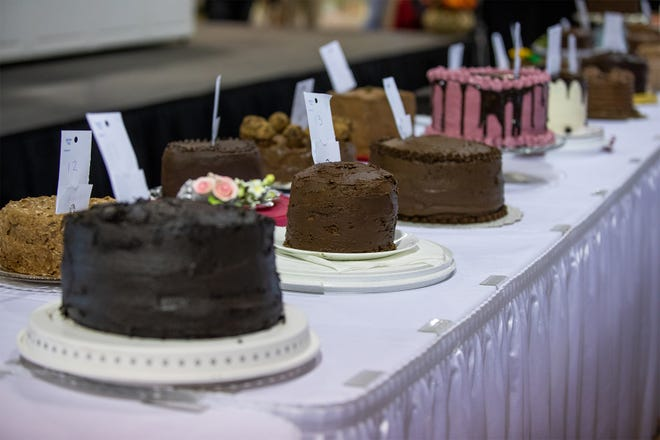 Forty-seven cakes of all shapes and sizes are entered in the 59th Gerry Frank Chocolate Layer Cake Contest on Sept. 2 at the Oregon State Fair.