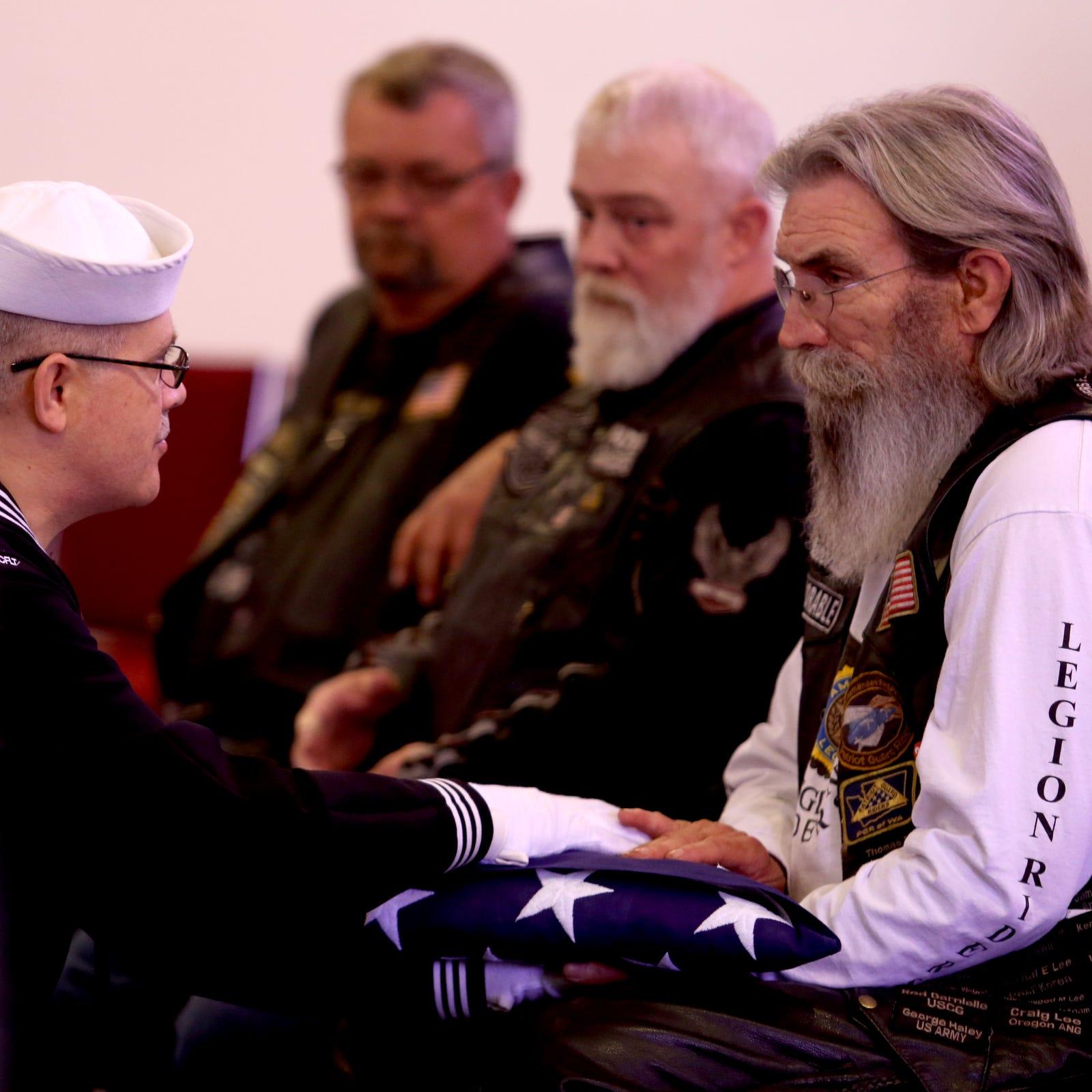 Forgotten homeless veteran given full military rites