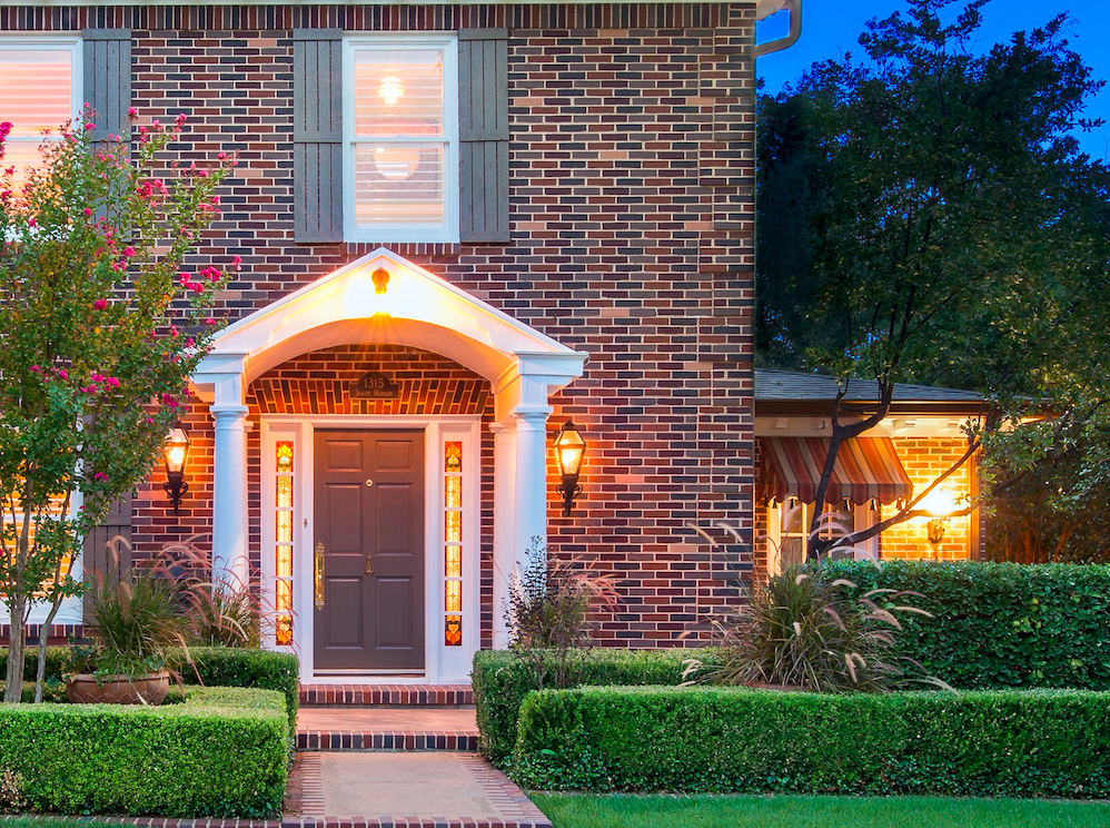 This Georgian style home at 1315 S Madison gives a warm welcome.