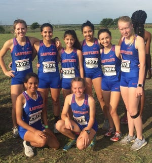 The San Angelo Central girls cross country team after their second-place finish Thursday, Sept. 6, 2018, at the James Smith Invitational in Midlothian.