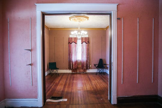 The living room of a 1904 home at 402 W Ave. D. The house is for sale and was a restaurant called Butler's Pantry as well as a private family residence.
