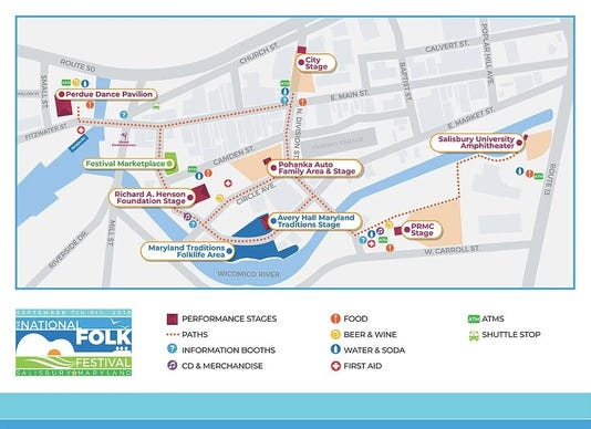 Folk Festival Map