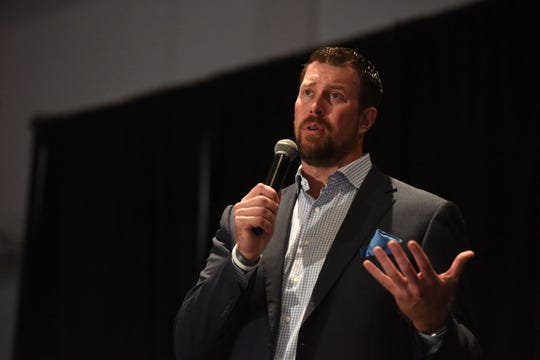 Former NFL quarterback Ryan Leaf speaks about drug addiction in 2018. Leaf will be speaking at the C.M. Russell High auditorium on Thursday at 7:30 p.m.