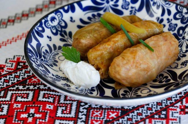 Sarmale, pork stuffed cabbage rolls, at Little Danube.