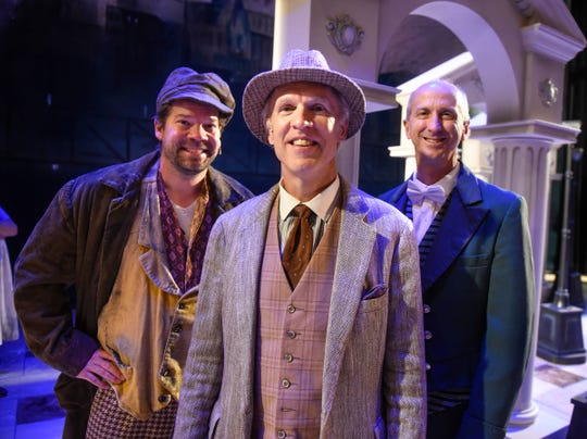 """Three local medical professionals are featured in the upcoming GREAT Theatre production of """"My Fair Lady."""" Dr. Joel Miron, Dr. Stephen P. Cragle and Dr. George Morris  are pictured Tuesday, Sept. 4, at the Paramount Center for the Arts in St. Cloud."""